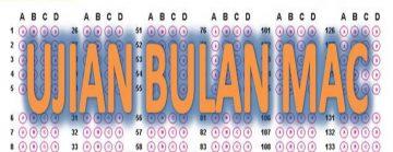 Jadual Ujian 1 Mac 2020