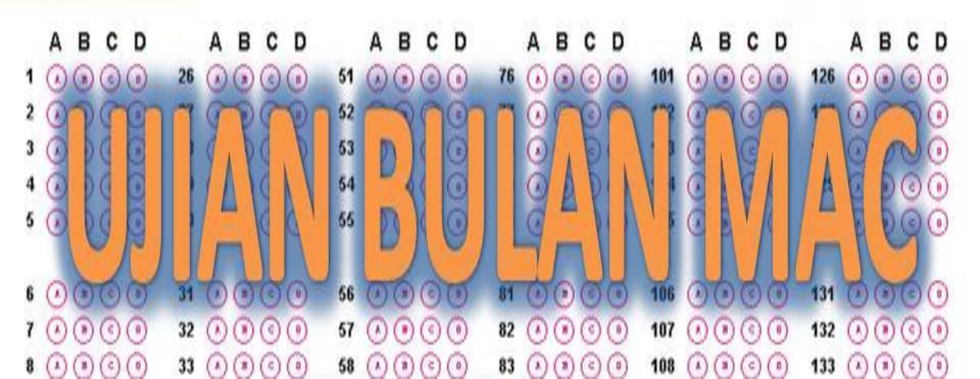 Jadual Ujian 1 Mac 2019