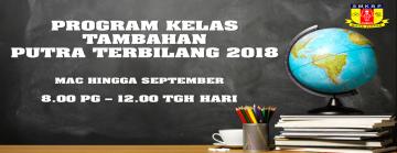Kelas Tambahan Putra Terbilang 2018